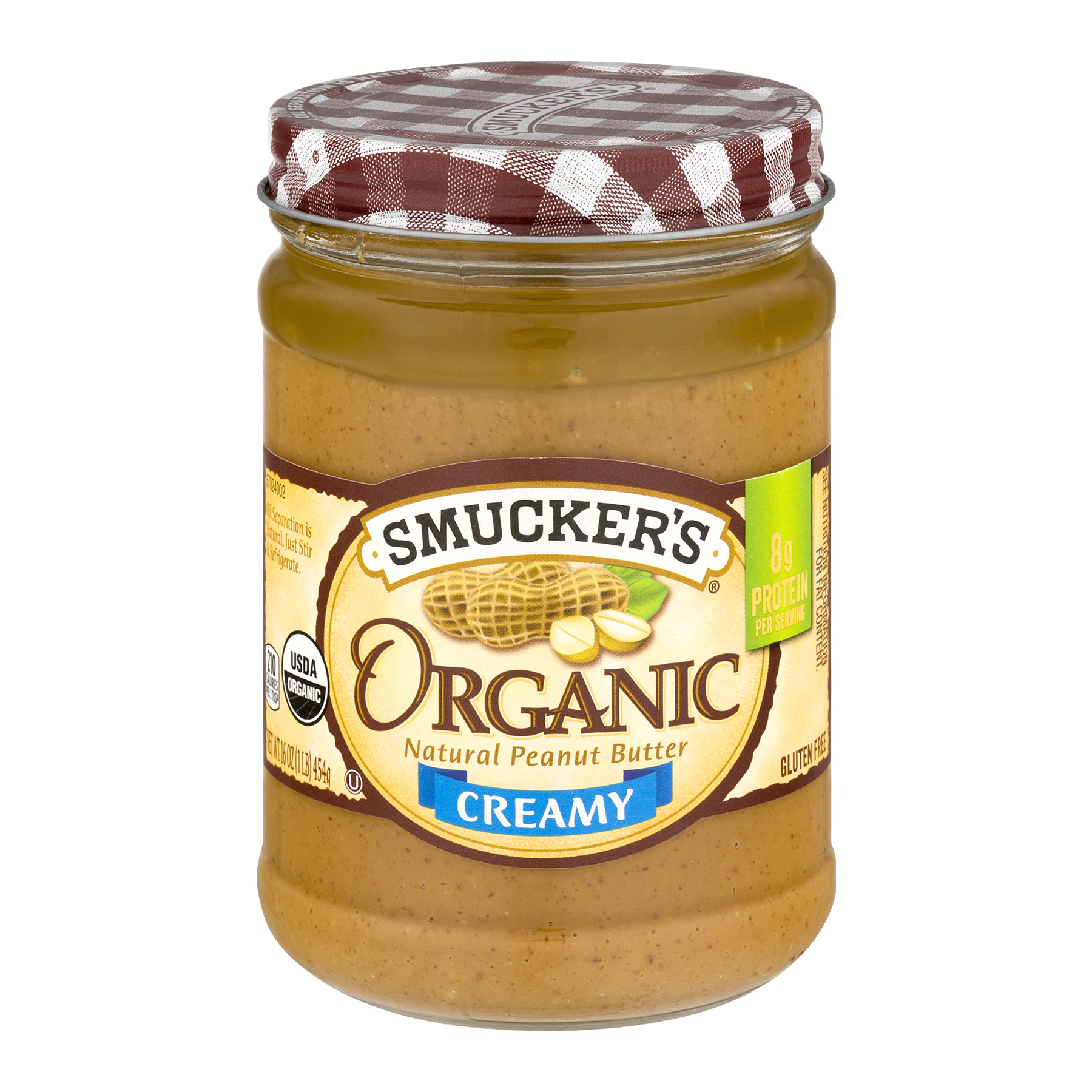 Smucker's Organic Creamy Natural Peanut Butter, 16 oz
