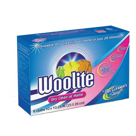 Woolite At Home Dry Cleaner, Fresh Scent, 6 Cloths ...