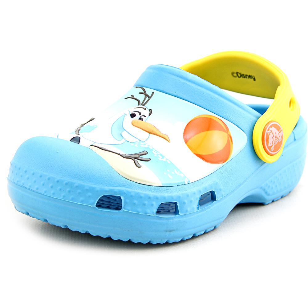 Crocs Creative Crocs Olaf Clog Toddler Round Toe Synthetic Blue Clogs by Crocs