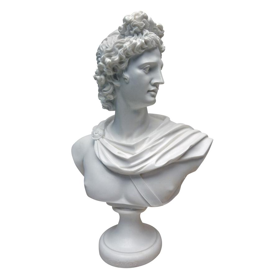 Apollo Belvedere, c. 350-325 BC: Bonded Marble Resin Sculptural Bust by Design Toscano
