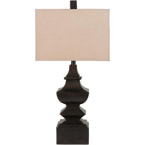 30' Zen Balanced Hammered Coffee Roast Brown Table Lamp w...