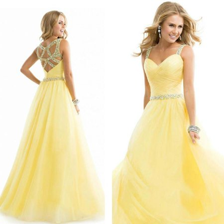 Long Formal Prom Dress Cocktail Party Ball Gown Evening Bridesmaid Dress