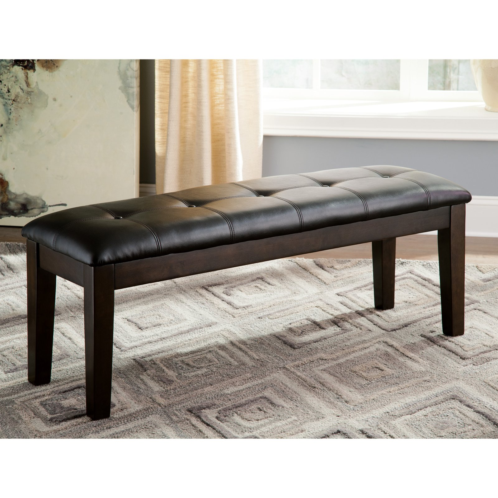 signature design by ashley haddigan upholstered dining bench