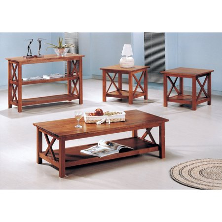 Awe Inspiring Coaster Furniture 3 Piece Coffee Table Set Medium Brown Camellatalisay Diy Chair Ideas Camellatalisaycom
