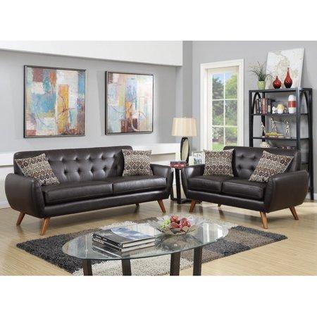 Infini Furnishings Modern Retro Sofa and Loveseat - Walmart.com