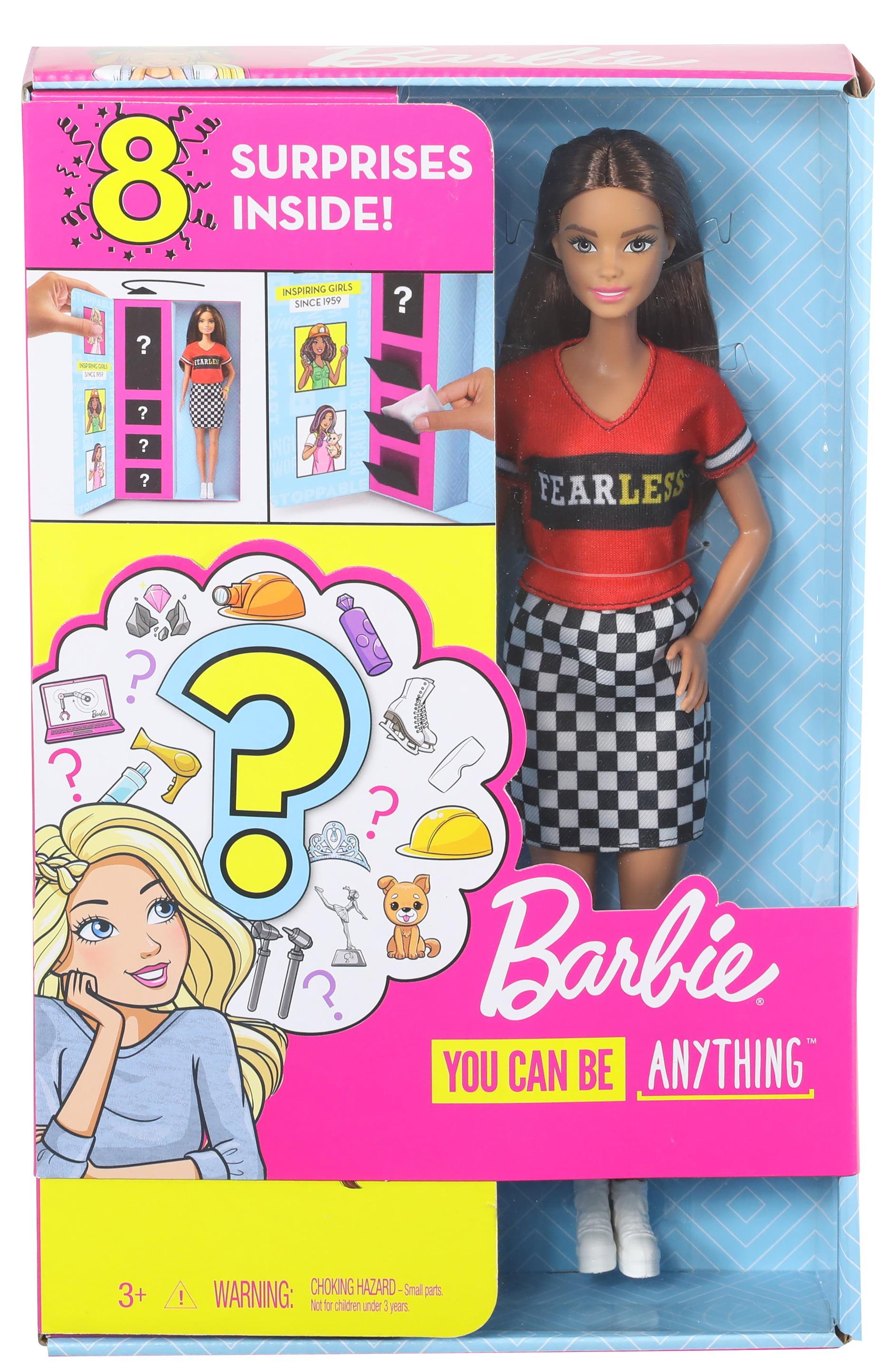 Boneca Barbie Com 2 carreira Surpresa parece com 8 surpresas Multi