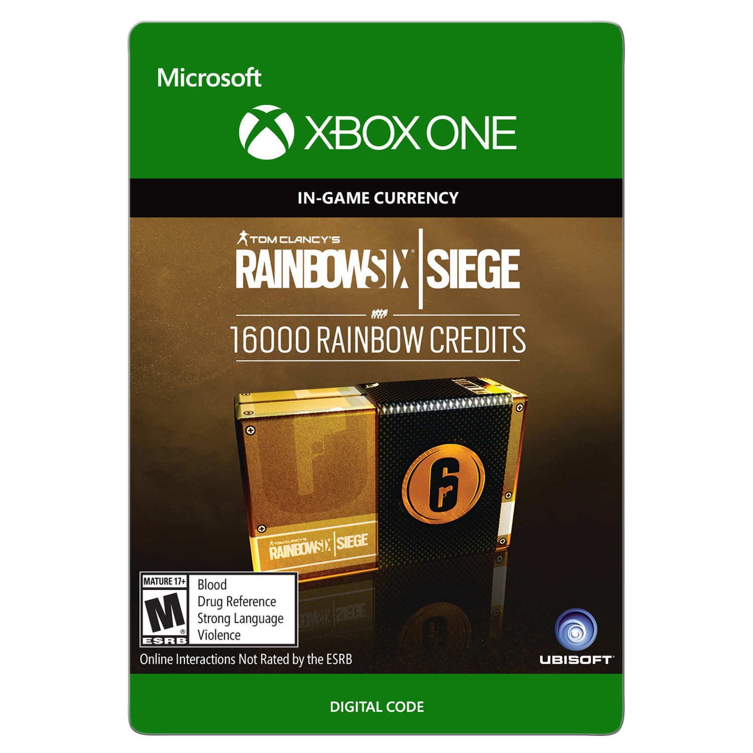 Xbox One Tom Clancy's Rainbow Six Siege Currency pack 16000 Rainbow credits (email delivery)
