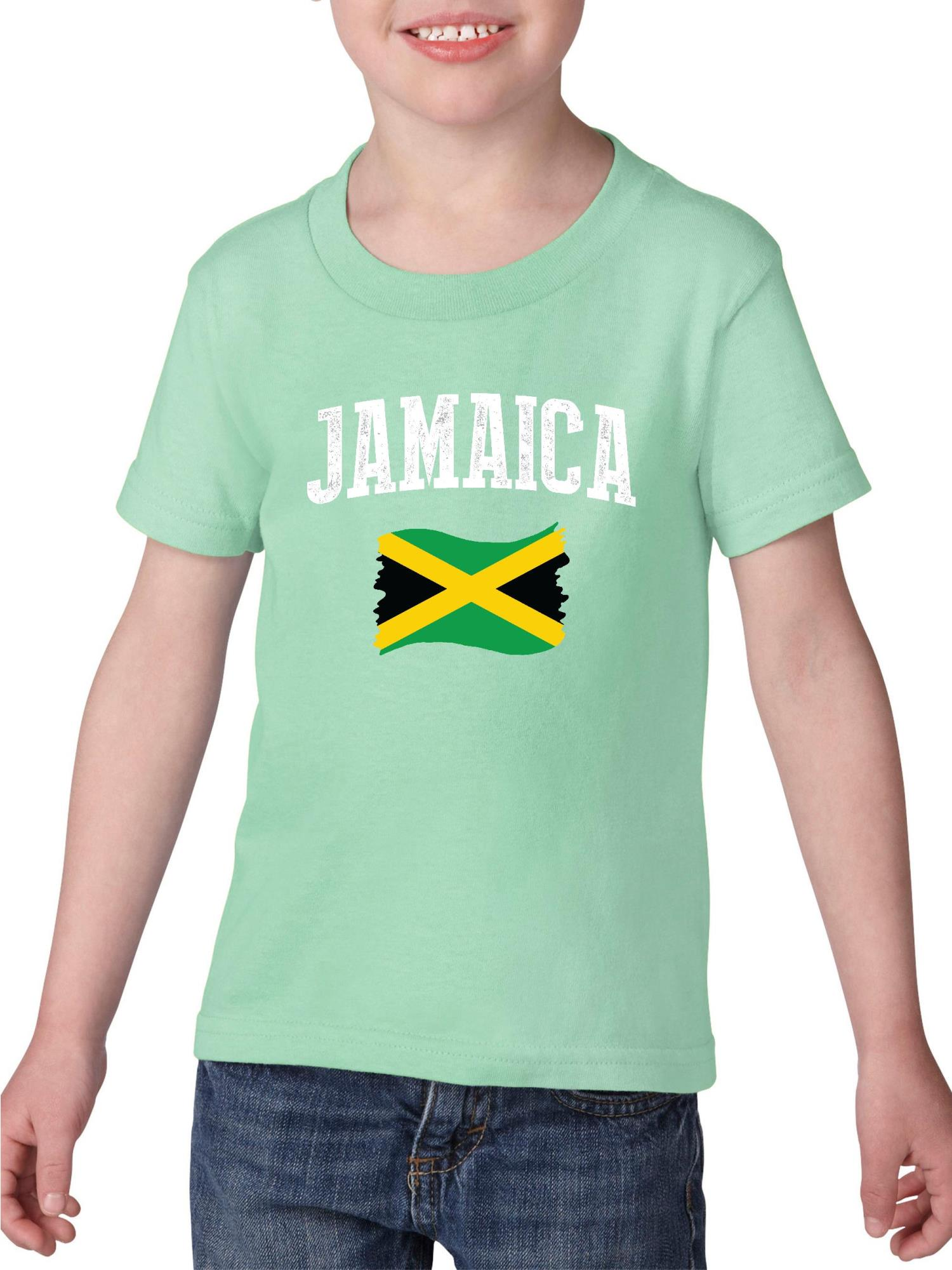 Jamaica Heavy Cotton Toddler Kids T-Shirt Tee Clothing