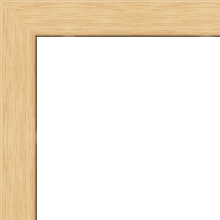 10x40 - 10 x 40 Natural Oak Flat Solid Wood Frame with UV Framer