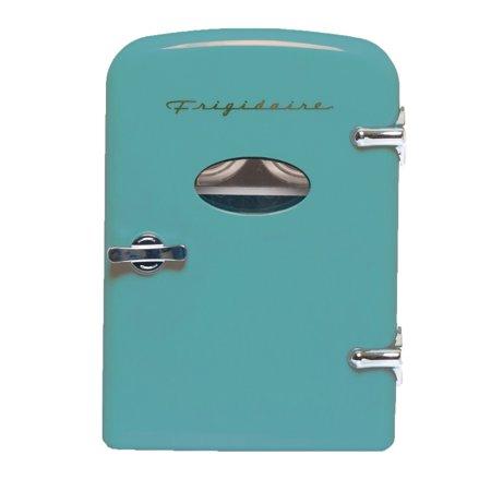 frigidaire portable retro 6 can mini fridge efmis129 blue walmart com