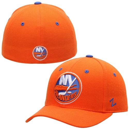 New York Islanders Zephyr Crosscheck Fitted Hat - Orange