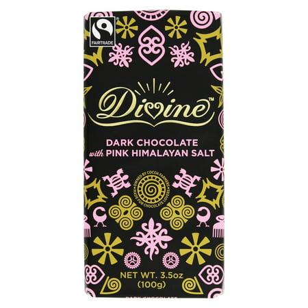 Divine Dark Chocolate - Divine - Dark Chocolate Bar with Pink Himalayan Salt - 3.5 oz.