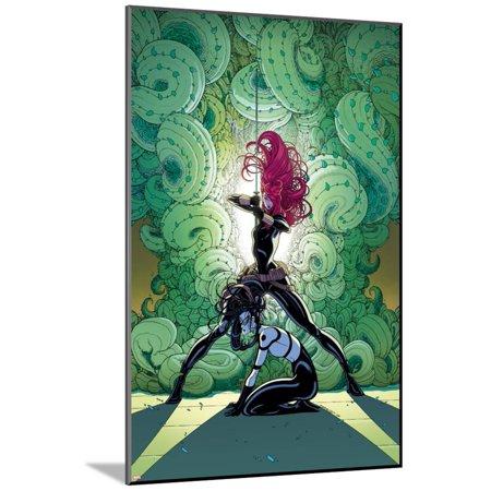 Black Widow Secret (Secret Avengers No. 12 Cover, Featuring: Black Widow, Lady Bullseye Wood Mounted Poster Wall Art By Tradd)