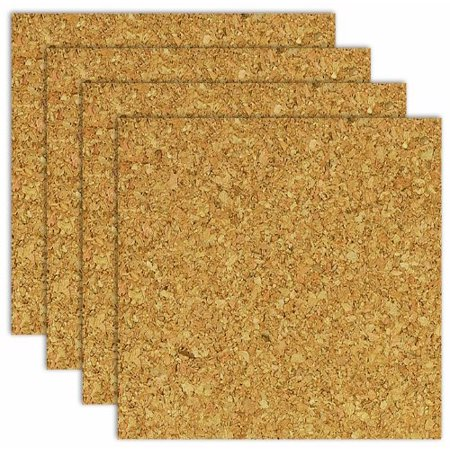 "Brd Dudes Cork Tile 3/8"" 6x6 Light 4pc"