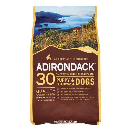 Adirondack 30% Protein High-Fat Recipe For Puppy & Performance Dogs, (Adirondack Dog)