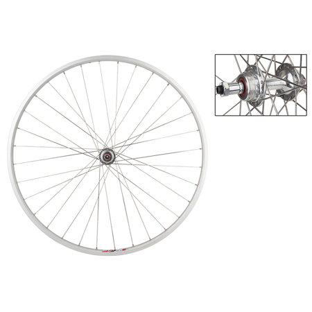 Road Bike Rear Wheel (Weinmann LP18 Rear Road Bike Wheel 700c Origin8 QR 5-7 Speed 36h Hub SILVER )
