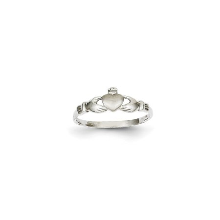 14k White Gold Child's Claddagh Ring ()