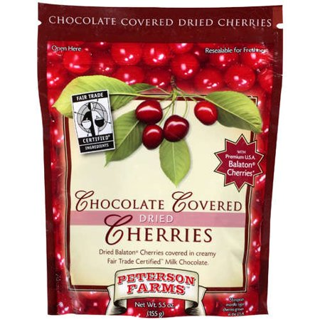 Peterson Farms Chocolate Covered Dried Cherries 5 5 Oz