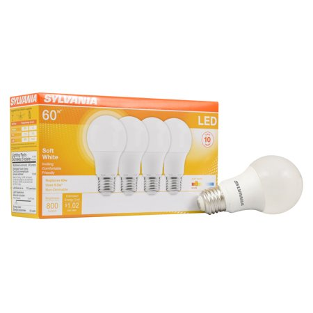 5w60w Light Led Count Bulbs8 White4 Sylvania EquivalentSoft OkiTZPuX