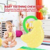 LYUMO Soft Silicone Baby Teether Fruit Modelling Infant Interesting Teething Chew Toys , Silicone Baby Teether, Infant Teether