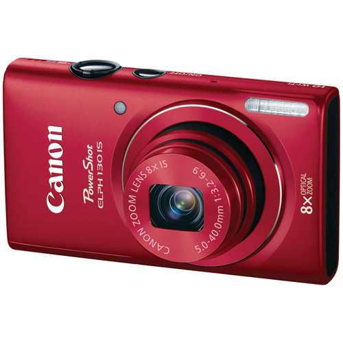 CANON 8197B001 16.0 Megapixel PowerShot(R) ELPH(R) 130 IS Digital Camera (Red)