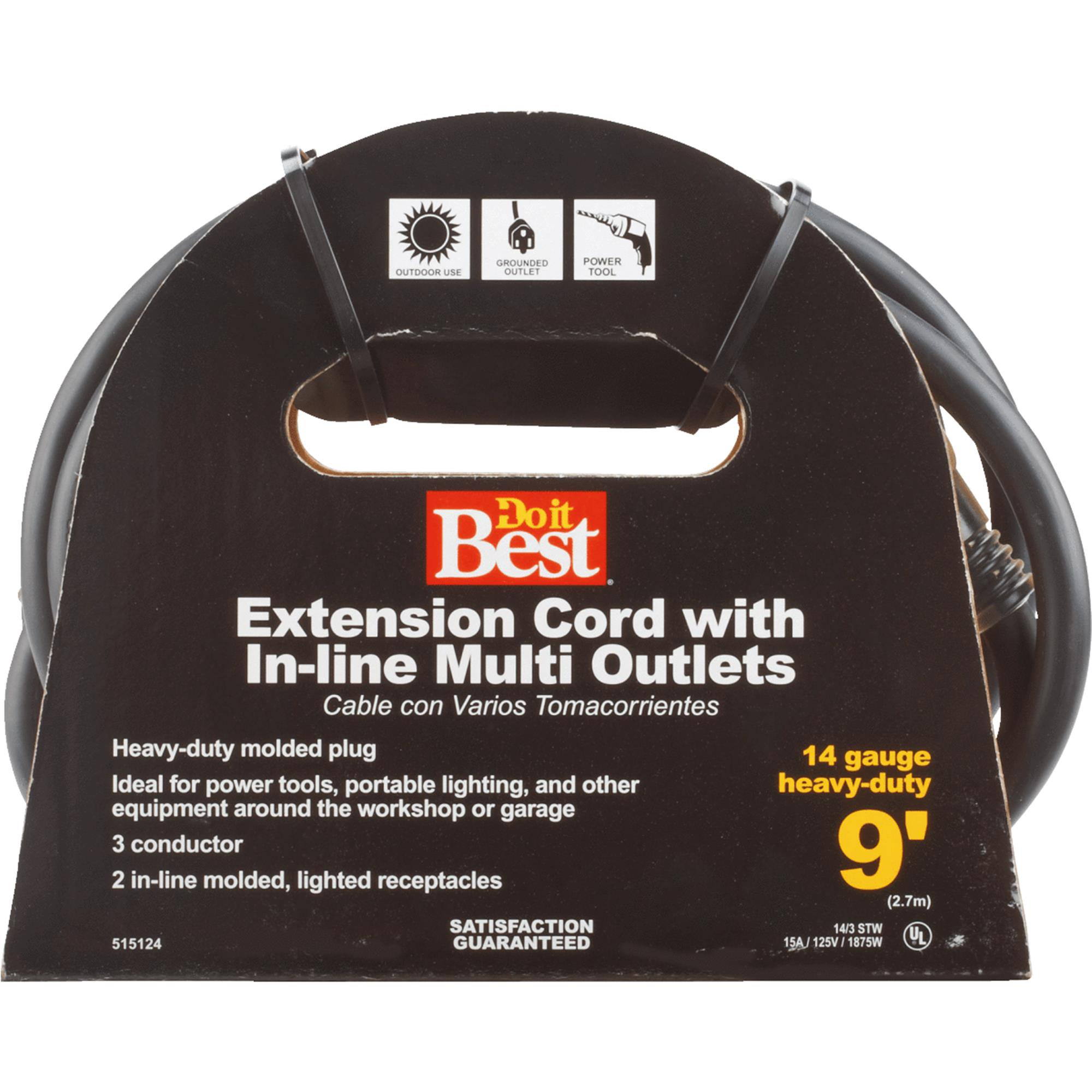 Do it Best 14/3 In-Line Multi Outlet Extension Cord