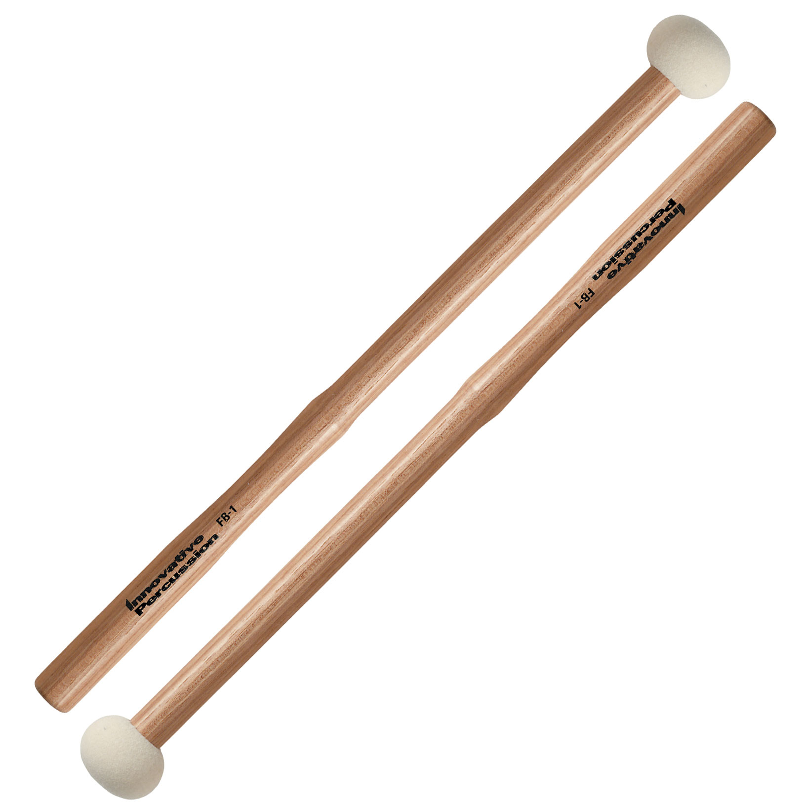 Innovative Percussion FB1 Hard Marching Bass Drum Mallets w/ Heartwood Hickory Shafts