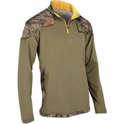 Yukon Gear YGLS Men's 1/4 Zip Microfleece Baselayer Top, Mossy Oak Country