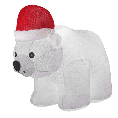 6.5ft Large Airblown Inflatable Polar Bear Décor, Christmas Inflatables Outdoor Holiday Decorations, Blow