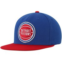 Detroit Pistons Mitchell & Ness Two-Tone Wool Snapback Hat - Blue/Red - OSFA