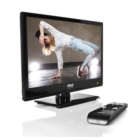Pyle 15.6-Inch 1080p LED TV | Ultra HD TV | LED Hi Res Widescreen Monitor with HDMI Cable RCA Input | LED TV Monitor | Audio Streaming | Mac PC | Stereo Speakers | HD TV Wall Mount (PTVLED15) Rca Hdmi Televisions