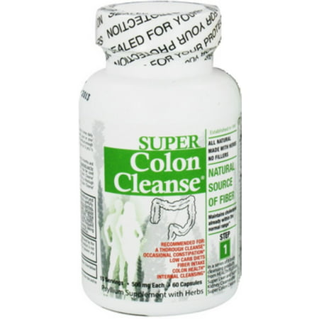 Health Plus super Colon Cleanse psyllium aux herbes, capsules 60 ch (pack de 2)