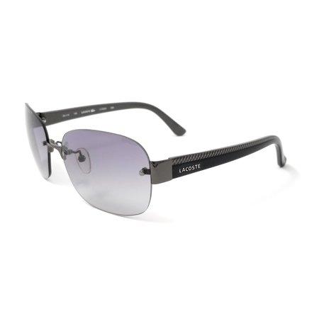 7d2efac30a23 LACOSTE Sunglasses L144SA 035 Gunmetal Rectangular Womens 59x16x135 -  Walmart.com