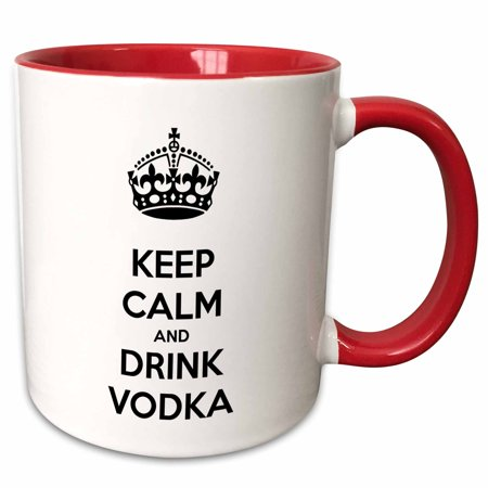 3dRose Keep calm and drink vodka. - Two Tone Red Mug, 11-ounce](Halloween Vodka Drinks)