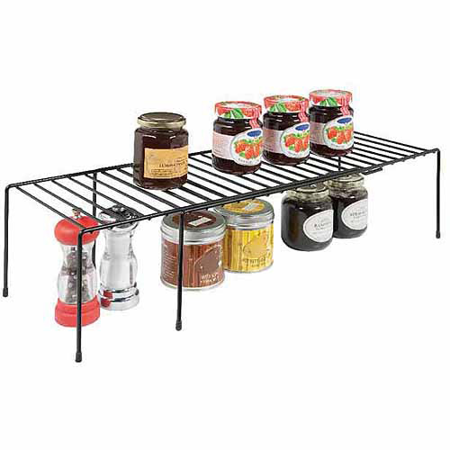 Rubbermaid Large Expandable Helper Shelf, Black