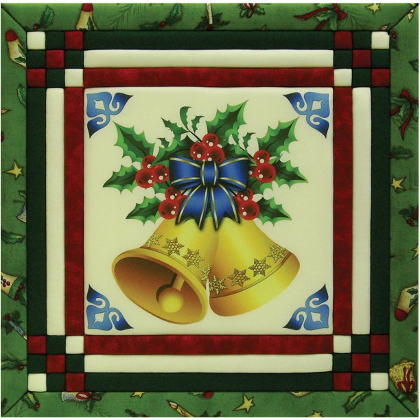 Christmas Bells Photo Quilt Magic Kit-12 Inch X 12 Inch