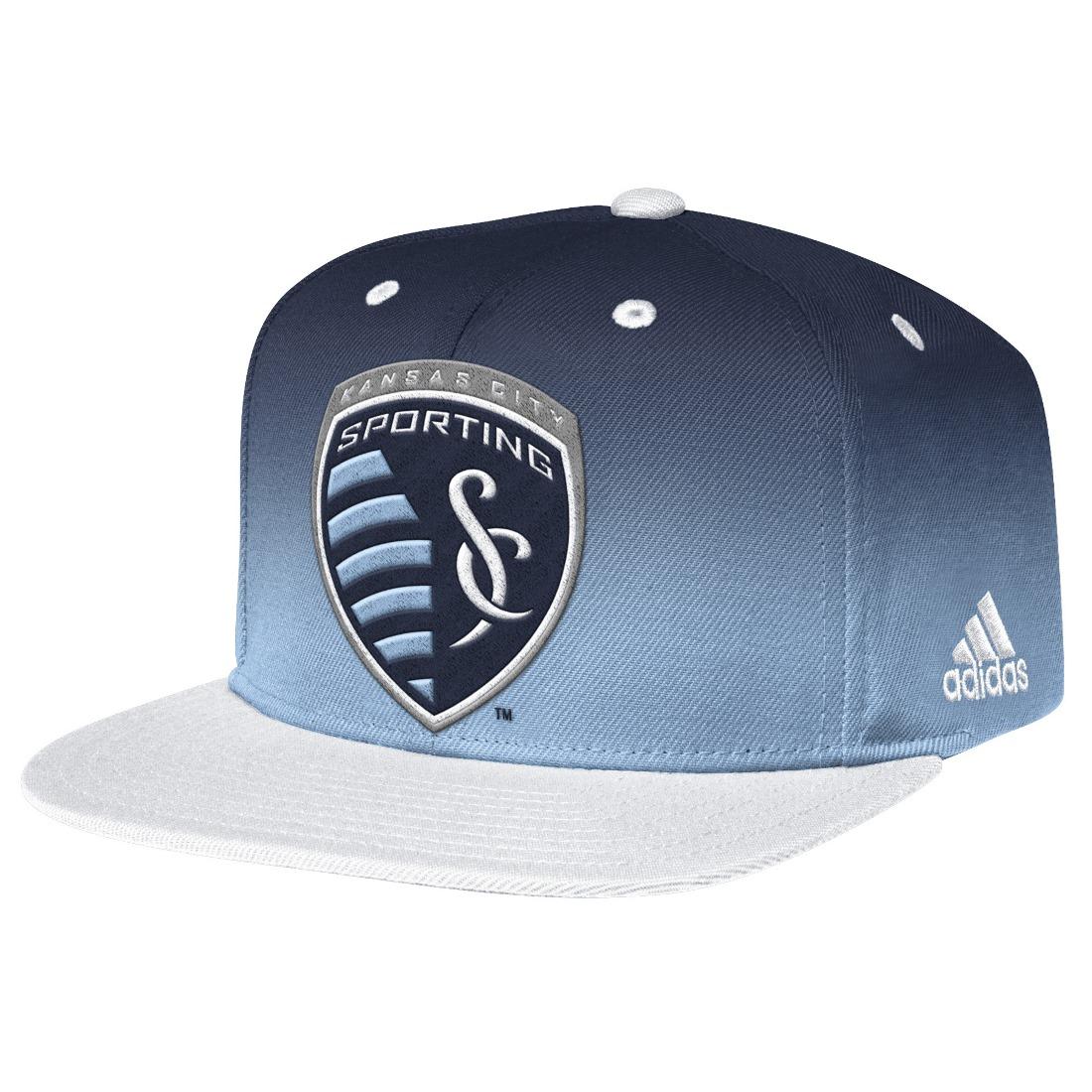 Sporting Kansas City Adidas MLS  Team Performance Gradient Snap Back Hat