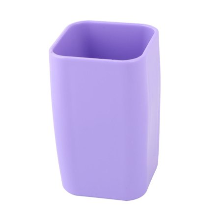 Uxcell Bathroom Plastic Toothbrush Toothpaste Holder Tooth Cleaning Cup Purple 300ml