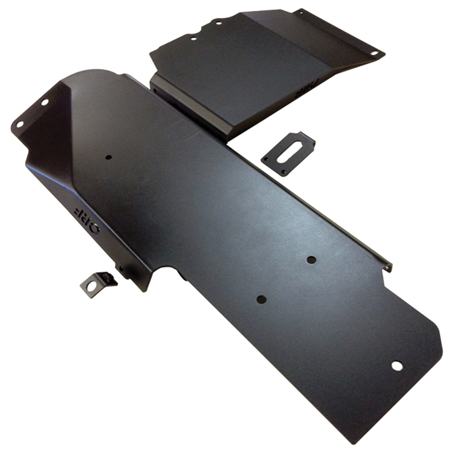 OR-FAB 87062 Skid Plate; Wrinkle Black; HD; For Fuel Tank; Also Covers Transfer Case;
