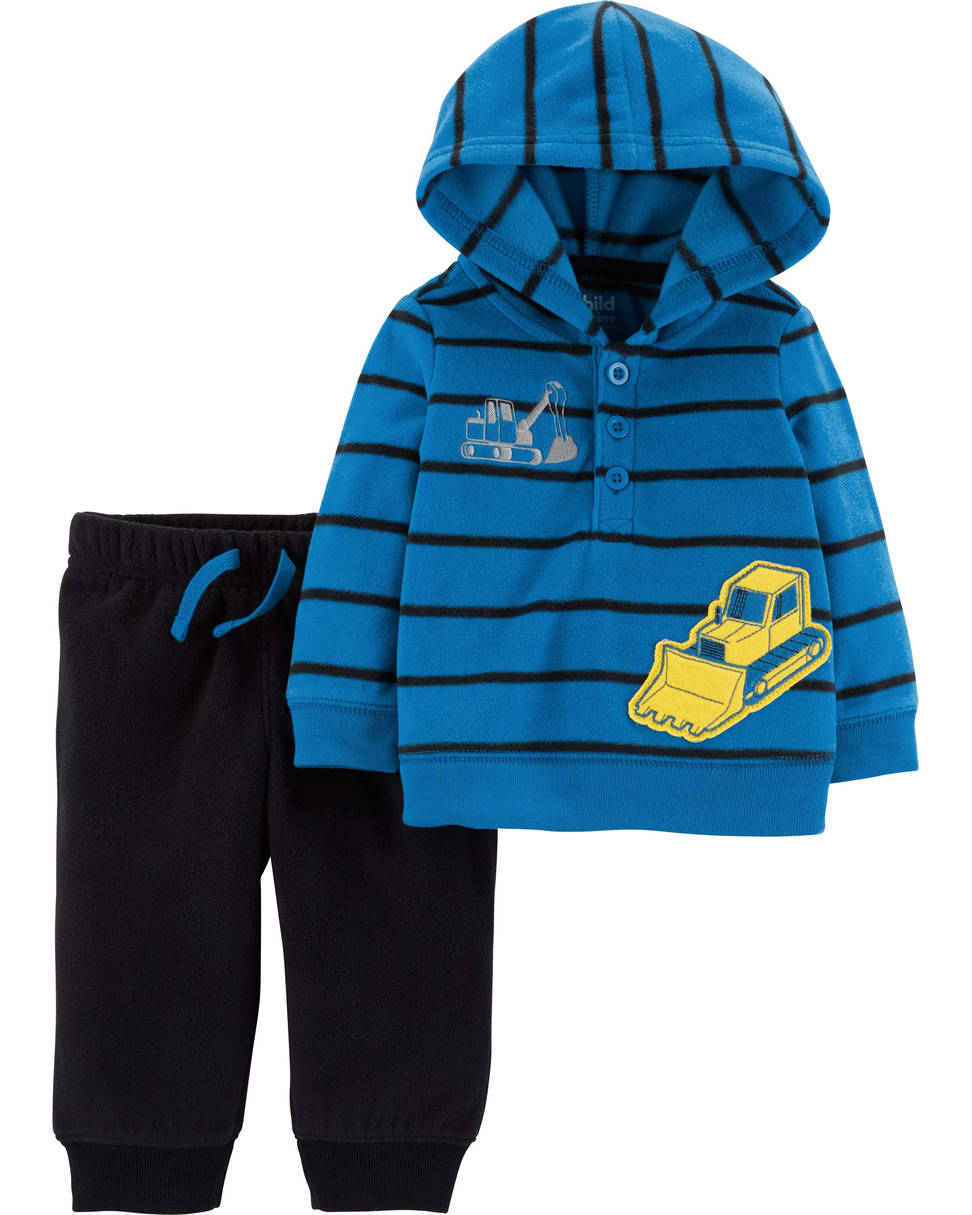 ba6d2294802f Child of Mine by Carter s - Hooded Long Sleeve T-Shirt   Jogger ...