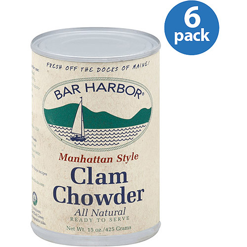 Bar Harbor Manhattan Style Clam Chowder Soup 15 oz (6 Packs)