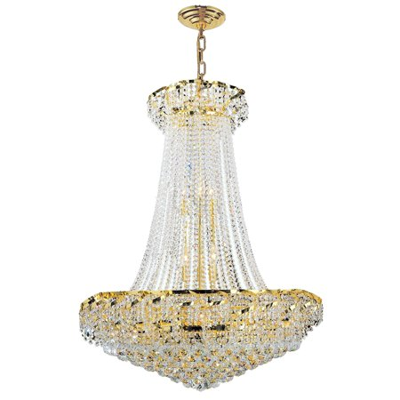Crystal Chandelier Gold Finish (Brilliance Lighting and Chandeliers French Empire 18-light Gold Finish and Clear Crystal Chandelier )