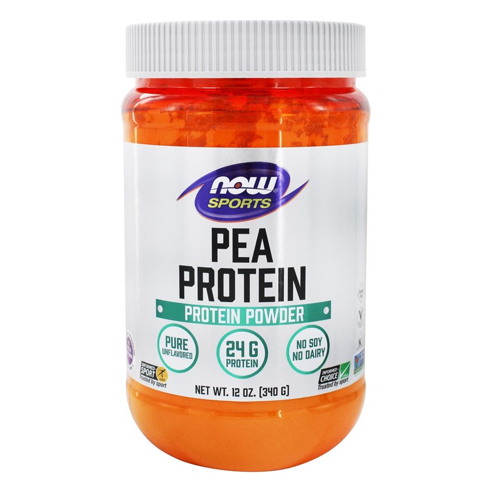 NOW Foods - NOW Sports Pea Protein Powder Natural Unflavored - 12 oz.