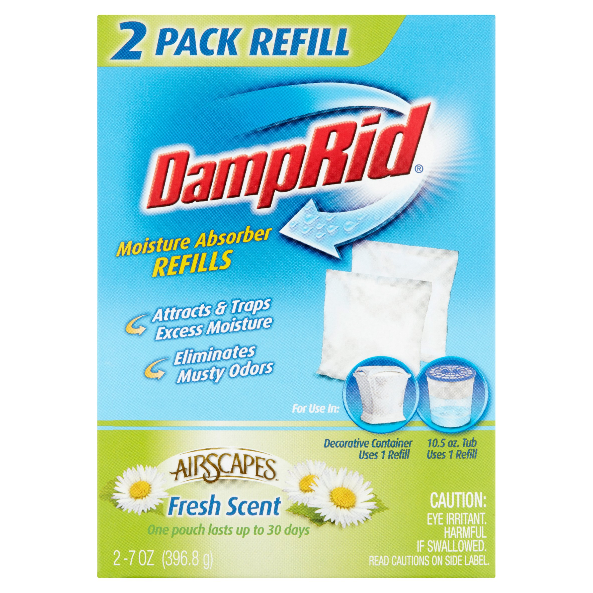 DampRid AirScapes Fresh Scent Refills, 2 ct, 7 oz