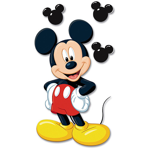 Disney Jumbo Mickey Mouse Dimensional Sticker Multi-Colored