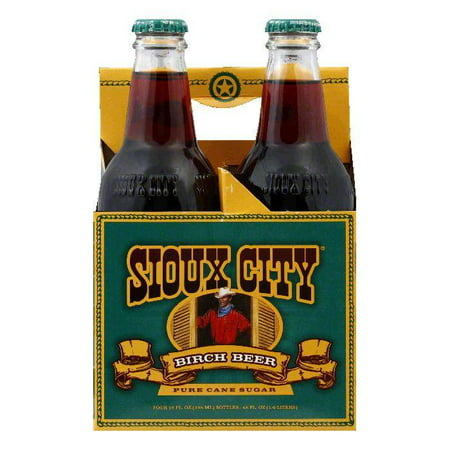 Birch Sofa - Sioux City Birch Beer Soda 4 (6) packs, Total of 24 bottles