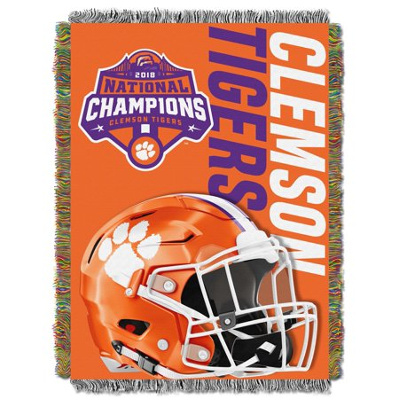 "Clemson Tigers ""2018 NCAA National Football Champions"" Woven Tapestry Throw Blanket"