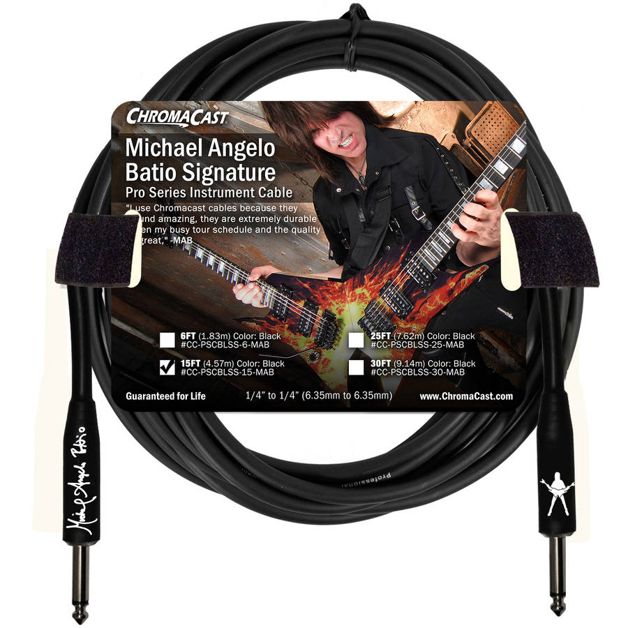 ChromaCast Pro Series Michael Angelo Batio Signature Instrument Cable by Generic
