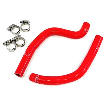 Red Silicone Radiator Hose - HPS Red Reinforced Silicone Radiator Hose Kit for Honda 03-06 CR85R
