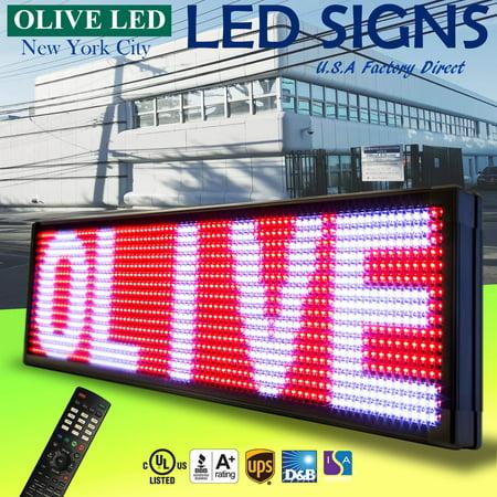 Deliver Neon Sign - OLIVE LED Sign 3Color RWP 12